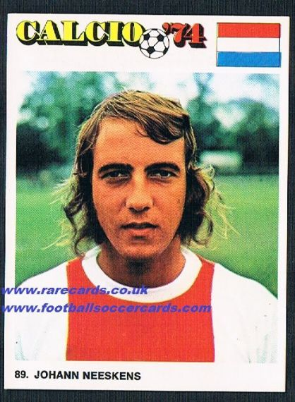 1973 Ediraf AJAX Neeskens Holland
